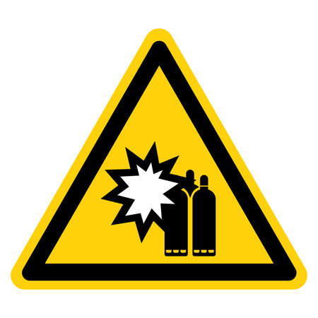 Pressurized Can Cause Severe Injury Lock Out Source Symbol Sign ,Vector Illustration, Isolate On White Background Label. 일러스트