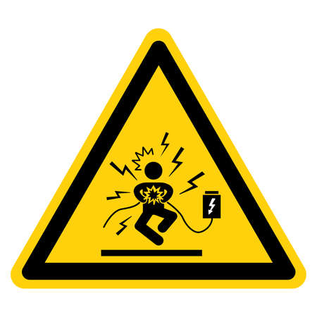 Danger Hazardous Voltage Will Cause Severe Injury Or Death Symbol Sign ,Vector Illustration, Isolate On White Background Label.