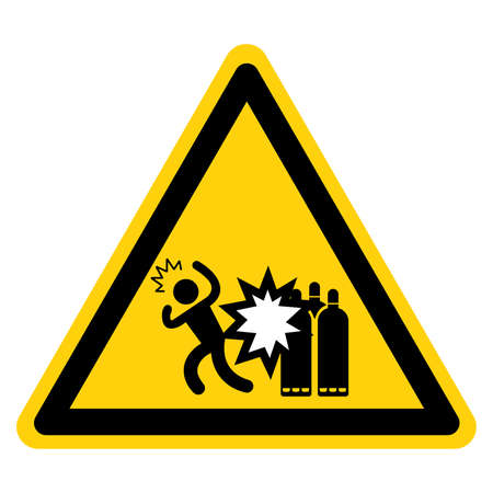 Servicing While Pressurized Can Cause Severe Injury Lock Out Sourced Symbol Sign ,Vector Illustration, Isolate On White Background Label.