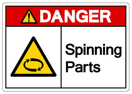 Danger Spinning Parts Symbol Sign, Vector Illustration, Isolate On White Background Label. EPS10
