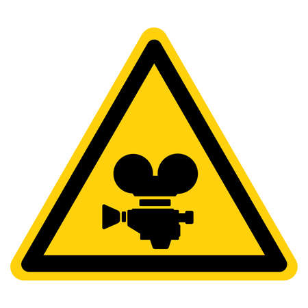 Camera Director Symbol Sign ,Vector Illustration, Isolate On White Background Label.