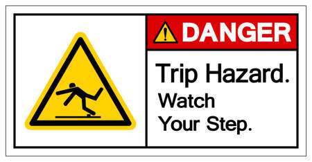 Danger Trip Hazard Watch Your Step Symbol, Vector Illustration, Isolate White Background Label. EPS10 일러스트