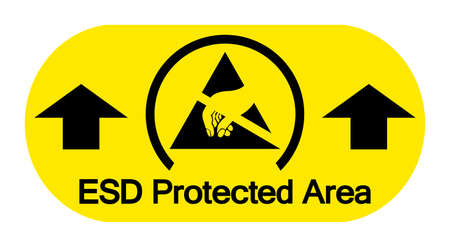 ESD Protective Area Symbol Sign, Vector Illustration, Isolated On White Background Label .EPS10 일러스트