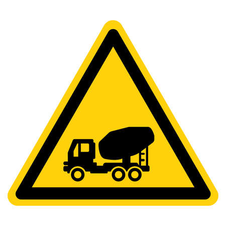 Concrete Mixer Truck Symbol Sign,Vector Illustration, Isolate On White Background Label. EPS10 일러스트