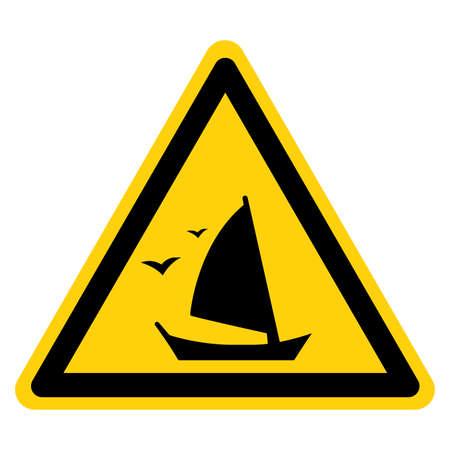 Sailboat Symbol Sign,Vector Illustration, Isolate On White Background Label. EPS10 일러스트