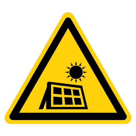 Solar Panels Symbol Sign,Vector Illustration, Isolate On White Background Label. EPS10
