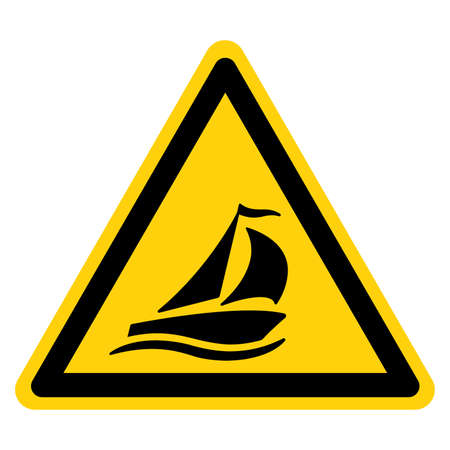 Sailing Boat Symbol Sign,Vector Illustration, Isolate On White Background Label. EPS10