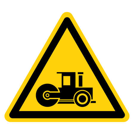 Asphalt Compactor Symbol Sign,Vector Illustration, Isolate On White Background Label.