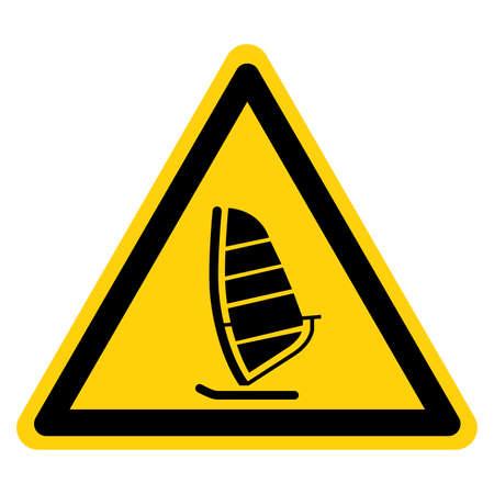 Windsurf Symbol Sign,Vector Illustration, Isolate On White Background Label. EPS10
