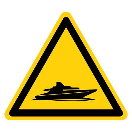 Cruiser Boat Symbol Sign,Vector Illustration, Isolate On White Background Label.