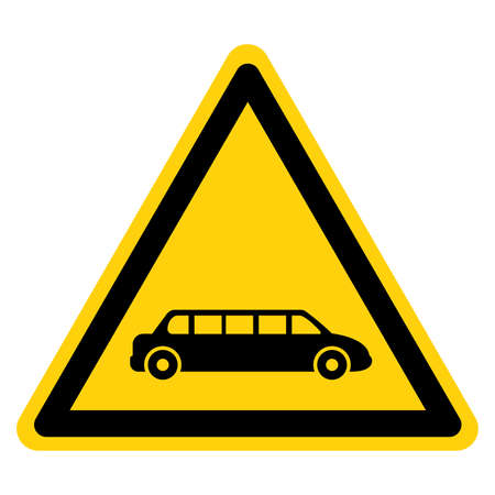 Limousine Symbol Sign,Vector Illustration, Isolate On White Background Label. EPS10