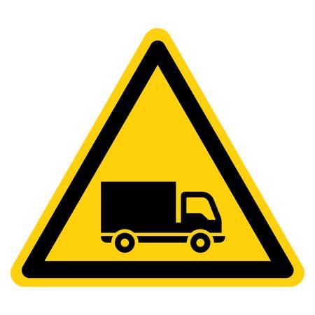 Truck Symbol Sign,Vector Illustration, Isolate On White Background Label. EPS10 向量圖像