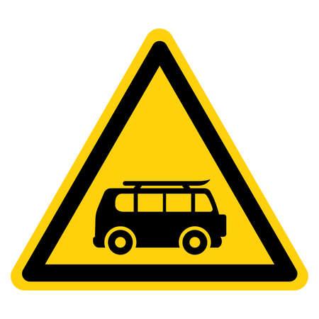 Van Symbol Sign,Vector Illustration, Isolate On White Background Label. EPS10