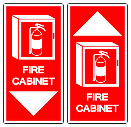 Fire Cabinet Symbol Sign ,Vector Illustration, Isolate On White Background Label 向量圖像