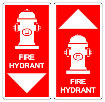Fire Hydrant Symbol Sign, Vector Illustration, Isolate On White Background Label. 向量圖像
