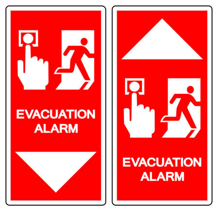 Evacuation Alarm Symbol Sign ,Vector Illustration, Isolate On White Background Label