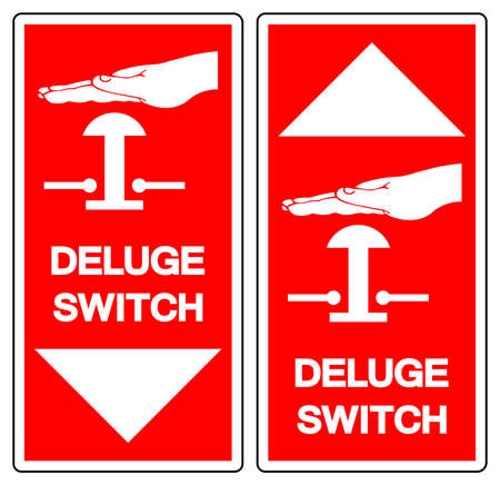 Deluge Switch Symbol Sign, Vector Illustration, Isolate On White Background, Label . 向量圖像