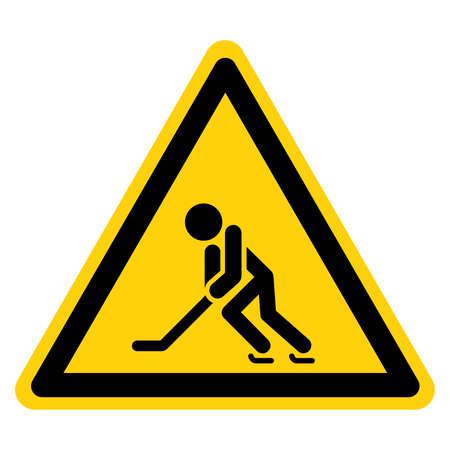 Ice Hockey Player Symbol Sign,Vector Illustration, Isolate On White Background Label. EPS10