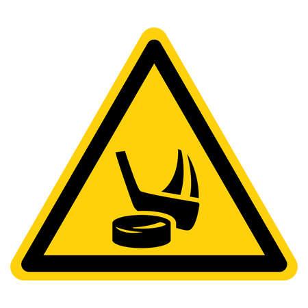 Ice Hockey Symbol Sign,Vector Illustration, Isolate On White Background Label. EPS10
