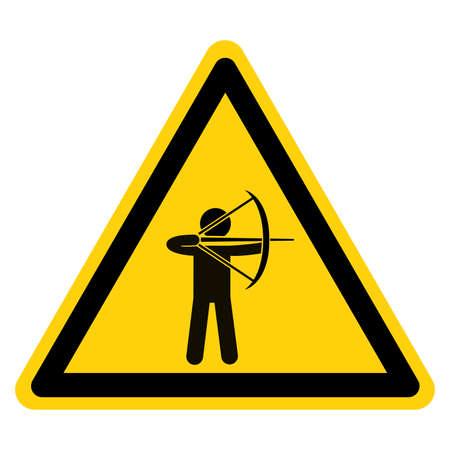 Archer Inside Symbol Sign,Vector Illustration, Isolate On White Background Label. EPS10 向量圖像