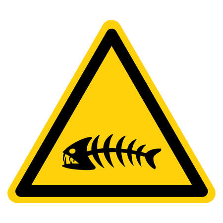 Fishbone Symbol Sign,Vector Illustration, Isolate On White Background Label. EPS10