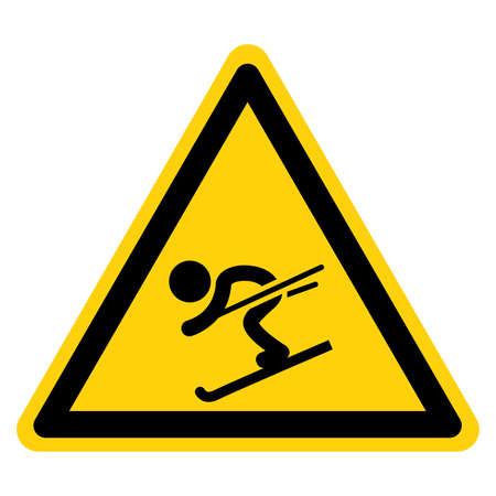 Ski Snow Sports Symbol Sign,Vector Illustration, Isolate On White Background Label. EPS10 向量圖像