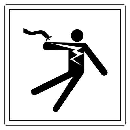 Electrical Shock Electrocution Symbol Sign, Vector Illustration, Isolate On White Background Label .EPS10 向量圖像