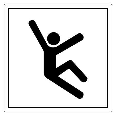 Climb Hazard Symbol Sign, Vector Illustration, Isolate On White Background Label .EPS10 向量圖像