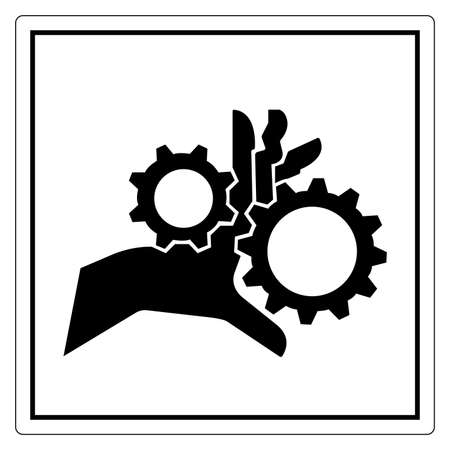 Hand Entanglement Rotating Gears Symbol Sign, Vector Illustration, Isolate On White Background Label .EPS10 向量圖像