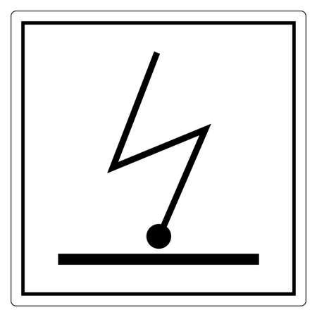 Electrostatic Charge Symbol Sign, Vector Illustration, Isolate On White Background Label. EPS10