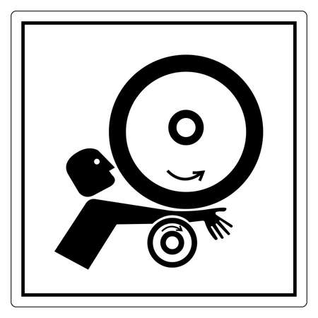 Arm in Rollers Symbol Sign, Vector Illustration, Isolate On White Background Label .EPS10