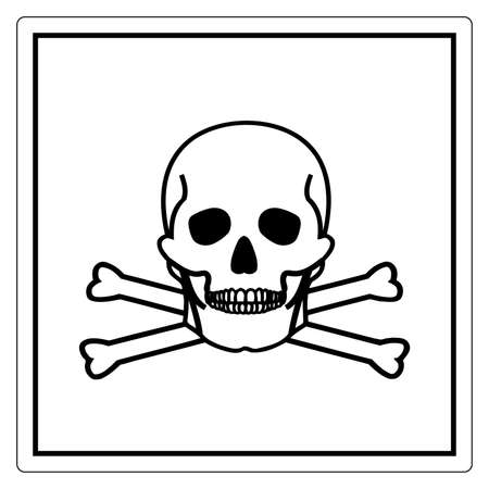 Toxic Material Symbol Sign, Vector Illustration, Isolate On White Background Label .EPS10 向量圖像