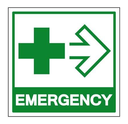 Emergency Symbol Sign, Vector Illustration, Isolate On White Background Label. EPS10