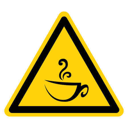 Cup Of Hot Coffee Symbol Sign,Vector Illustration, Isolate On White Background Label. EPS10