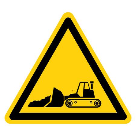 Bulldozer Symbol Sign,Vector Illustration, Isolate On White Background Label. EPS10