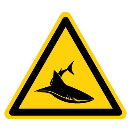 Shark Area Symbol Sign,Vector Illustration, Isolate On White Background Label. EPS10