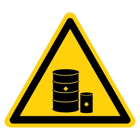 Chemical Storage Area Symbol, Vector Illustration, Isolate On White Background Label. EPS10