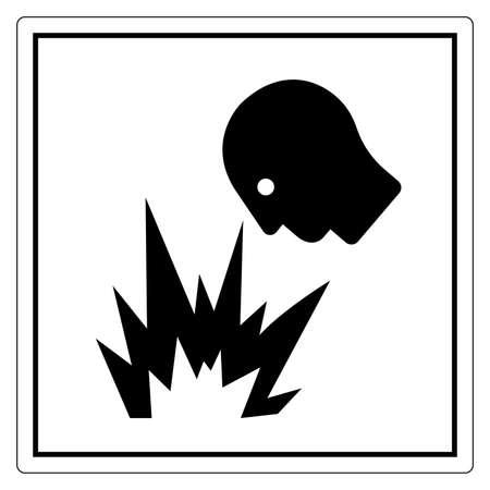 Arc Flash Hazard Eye Flying light Symbol Sign, Vector Illustration, Isolate On White Background Label .EPS10 向量圖像
