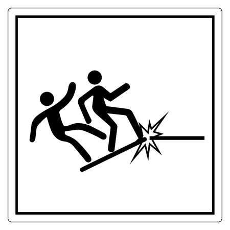 Warning Platform Collapse Can Cause Severe Injury Symbol, Vector Illustration, Isolate On White Background Label. EPS10