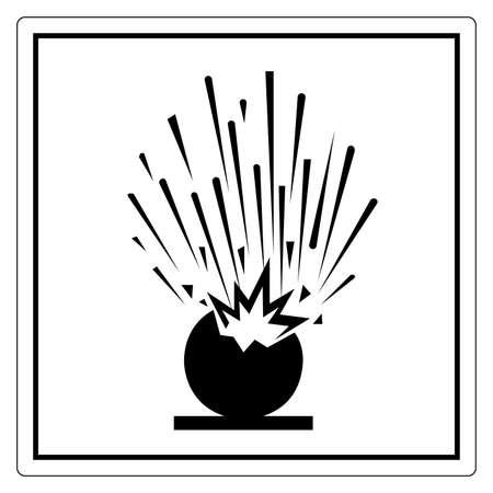 Beware Explosive Symbol Sign ,Vector Illustration, Isolate On White Background Label. EPS10