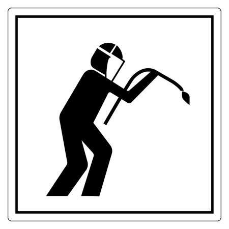 Warning Welding Area Symbol Sign, Vector Illustration, Isolate On White Background Label .EPS10