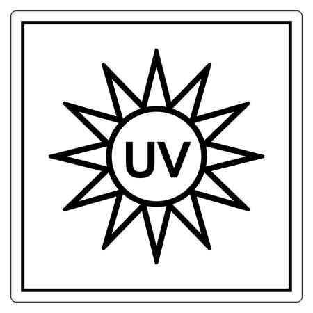 UV Light Symbol Sign, Vector Illustration, Isolate On White Background Label. EPS10