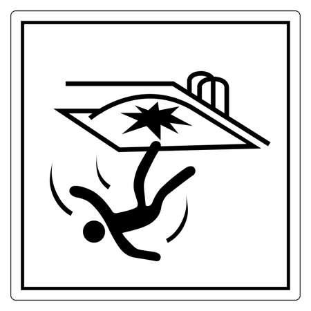 Fall Hazard Symbol Sign, Vector Illustration, Isolate On White Background Label. EPS10