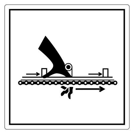 Warning Moving Part Cause Injury Symbol, Vector Illustration, Isolate On White Background Label. EPS10