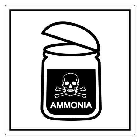 Danger Ammonia Symbol Sign ,Vector Illustration, Isolate On White Background Label. EPS10