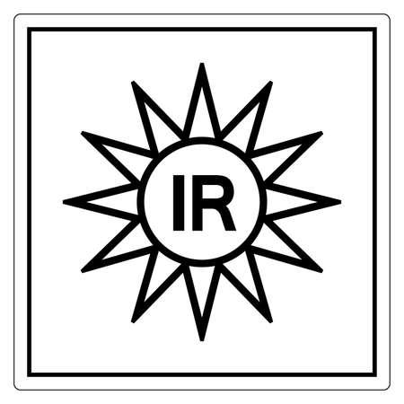 Invisible Radiation Symbol Sign, Vector Illustration, Isolate On White Background Label. EPS10