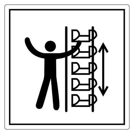 Warning Exposed Buckets and Moving Parts Symbol, Vector Illustration, Isolate On White Background Label. EPS10