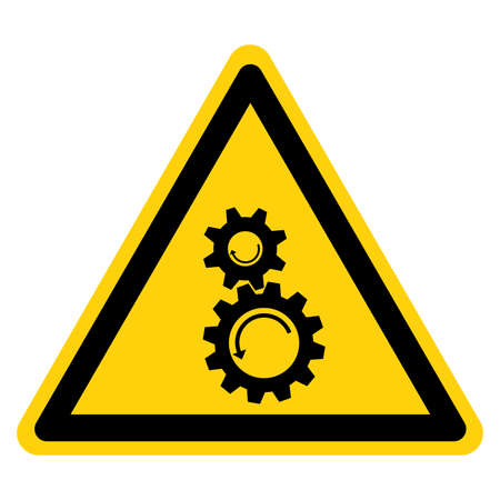 Rotating Gears Symbol Sign,Vector Illustration, Isolate On White Background Label. EPS10