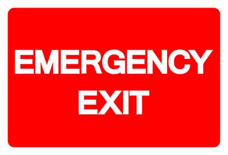 Emergency Exit Symbol Sign, Vector Illustration, Isolate On White Background Label. EPS10