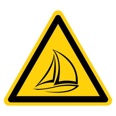 Sailing Boat Symbol Sign,Vector Illustration, Isolate On White Background Label. EPS10 Ilustracje wektorowe